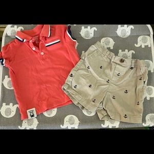 Crown and ivy baby boy short set size 24 months
